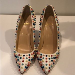 CHRISTIAN LOUBOUTIN Pigalle rainbow spike pumps 39